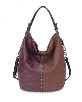 Tas Mercy Chains aubergine paars paarse kunstleder tassen dames ketting hengsel musthave fashion it bags kopen bestellen