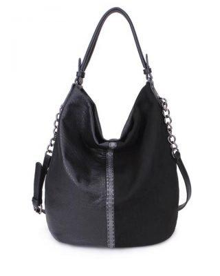 Tas Mercy Chains zwart zwarte kunstleder tassen dames ketting hengsel musthave fashion it bags kopen bestellen