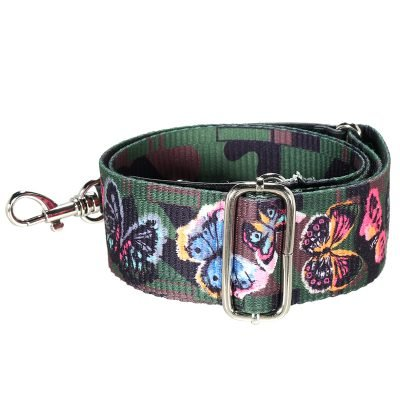 Tassen Hengsel Vlinders gekleurde stoffen schouderbanden met vlinder bloemen print voor tassen met studs musthave accessoires online goedkoop kopen