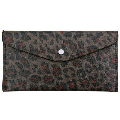 portemonnee Enveloppe leopard bruin bruine portemonnees clutches dieren panter print kopen bestellen