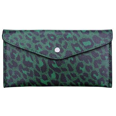 portemonnee Enveloppe leopard groen groene portemonnees clutches dieren panter print kopen bestellen