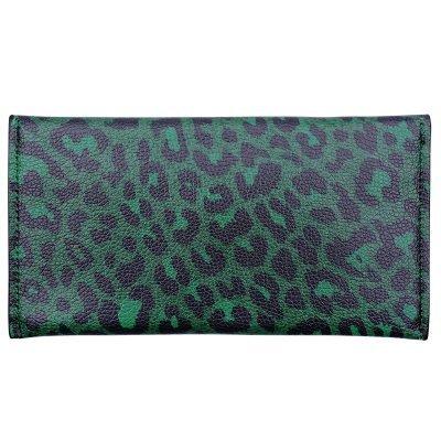 portemonnee Enveloppe leopard groen groene portemonnees clutches dieren panter print zwarte binnenkant kopen bestellen achter