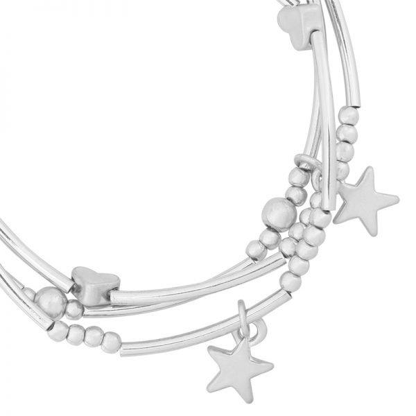 Armband love of stars zilver Zilveren armbanden setje 3 armbanden kraaltjes dames musthave fashion bracelets arm candy details