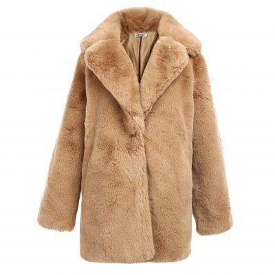 Bontjas Warm Winter khaki kaki creme nude Lange-Teddy-Coat-jas-jassen -wollen-winter-jassen-online-dikke-warm-kopen-bestellen-online-goedkoop FAUX FUR