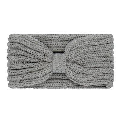 Haarband-Small Winter-Bow-grijs grijze-wollen-dames-haarbanden-musthave-fashion-dames-haar-accessoires-hoofdbanden hoofdband online-kopen-vrouwen