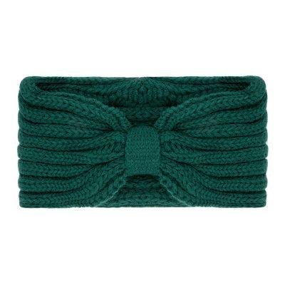 Haarband-Small Winter-Bow-groen groene-wollen-dames-haarbanden-musthave-fashion-dames-haar-accessoires-hoofdbanden hoofdband online-kopen-vrouwen