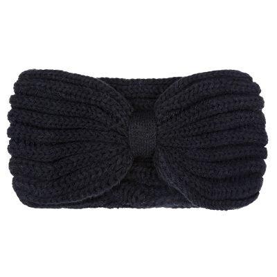 Haarband-Small Winter-Bow-zwart zwart-wollen-dames-haarbanden-musthave-fashion-dames-haar-accessoires-hoofdbanden hoofdband online-kopen-vrouwen