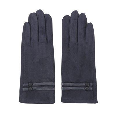 Handschoenen Elegance blauw blauwe dames handschoen seude leren handschoenen dames