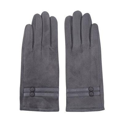 Handschoenen Elegance grijs grijze dames handschoen seude leren handschoenen dames kopen