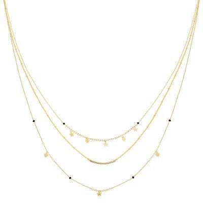 Ketting Famous Star goud gouden layers 3 kettingen sterren en hartjes musthave fashion accessoires kopen bestellen