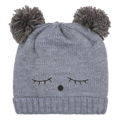Muts-Teddy Bear grijs grijze wimpers-dames-mutsen-wollen-bolletje-warme-mutsen-beanies-online-bestellen-kopen-600x600