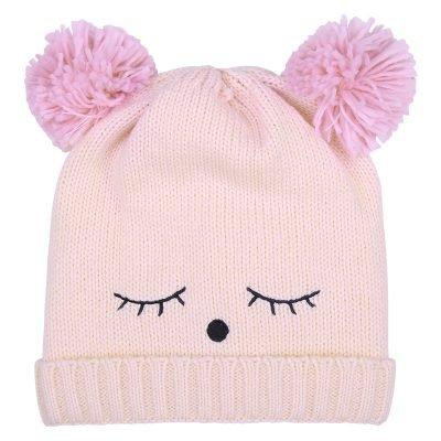 Muts-Teddy Bear roze pink wimpers-dames-mutsen-wollen-bolletje-warme-mutsen-beanies-online-bestellen-kopen-600x600
