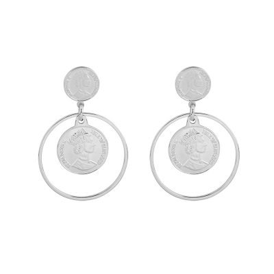 Oorbellen La Reina zilver zilveren dames oorbel creolen munt fashion earrings musthaves accessoires