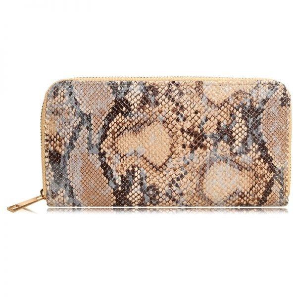 68c35f1f398 Portemonnee-happy-Snake bruin bruine slangenprint snake print- dames  portemonnees-kopen-