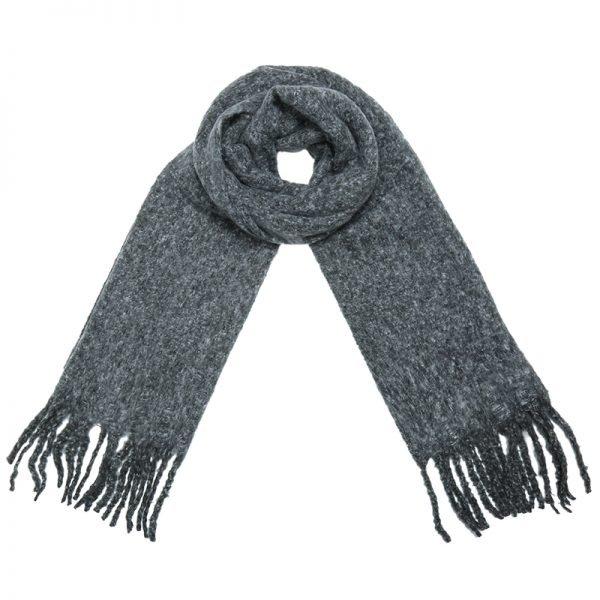 Sjaal Amazing Knit licht grijs grijze lange warme dames sjaals winter accessoires online kopen omslagdoeken