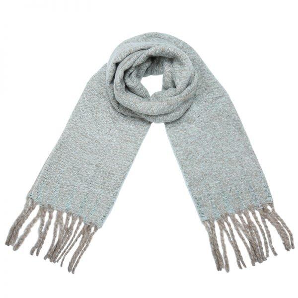 Sjaal Amazing Knit licht groen groene lange warme dames sjaals winter accessoires online kopen omslagdoeken