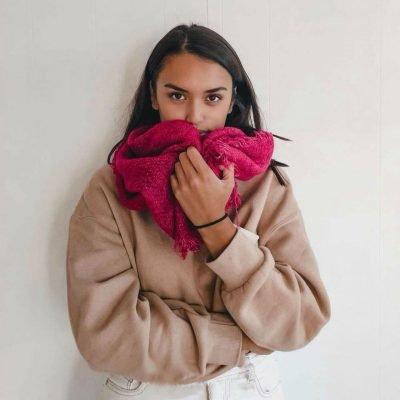 Sjaal Uni Colors dames sjaals omslagdoeken winter warme wollen gebreide hippe kopen