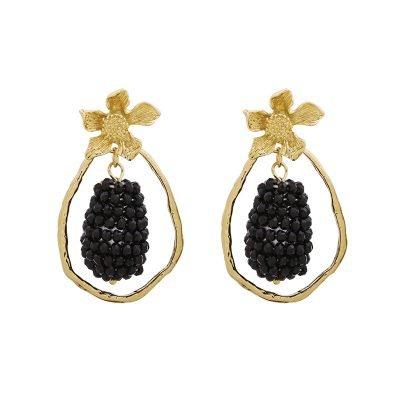 Statement Oorbellen Glam Grapes goud gouden oorbellen zwart zwarte bedel musthave fasion oorbellen online kopen