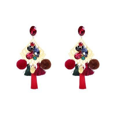 Statement Oorbellen PomPon Style goud gouden gekleurde oorbel kwastjes bolletjes stenen dames musthave earrings
