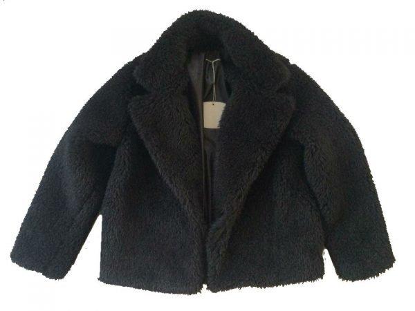 Teddy Jas Soft zwart zwarte korte teddy coat jassen winter jassen dames online kopen bestellen