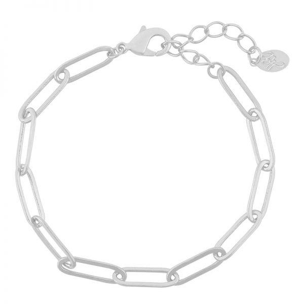 Armband Happy Chains zilver zilveren schakelarmbanden rvs sieraden accessoires fashion online kopen bestellen