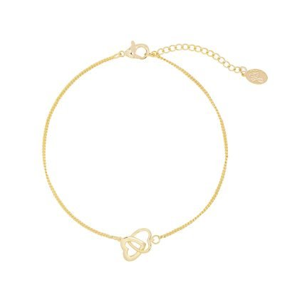 Armband Valentine Hearts gouden goud dames armbanden bracelet dubbele hartjes kopen bestellen