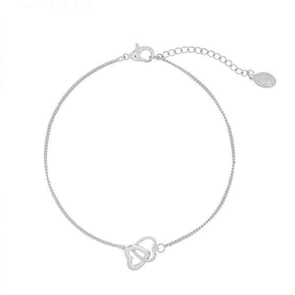 Armband Valentine Hearts zilver zilveren dames armbanden bracelet dubbele hartjes kopen bestellen