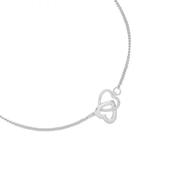 Armband Valentine Hearts zilver zilveren dames armbanden bracelet dubbele hartjes kopen bestellen details