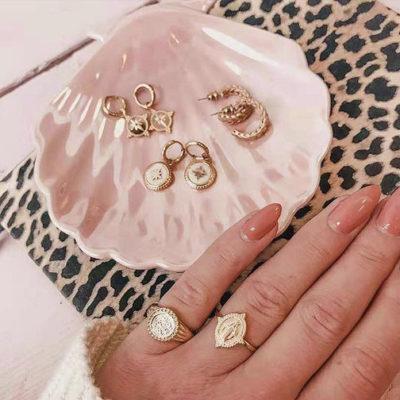 Gouden ring Holy Mary goud ringen verstelbaar dames sieraden bedel ringen kopen bestellen trendy