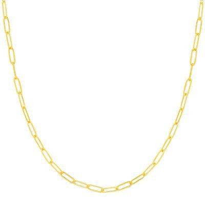 Ketting Happy Chains goud gouden schakel kettingen rvs sieraden accessoires fashion online kopen bestellen
