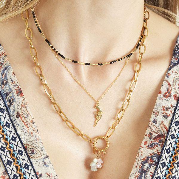 Ketting Revolver goud gouden dames kettingen gun pistoon bedel trendy dames sieraden bestellen kopen detail