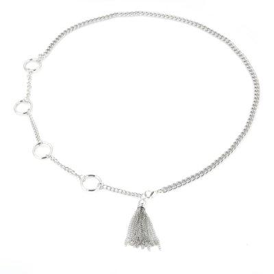 Kettingriem Tassle-zilver zilveren heupriem heupketting chain belt-tailleriemen-ketting-riemen-kwastje-trends-trendy-