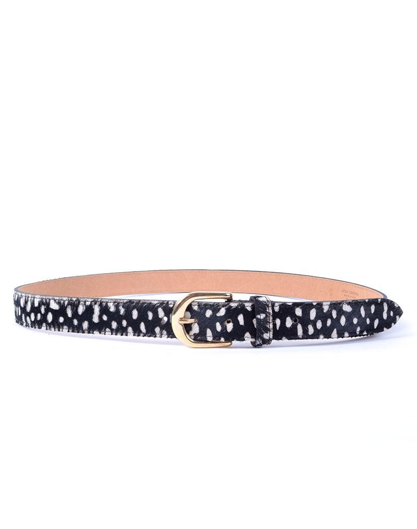 Leren Riem Animal print dalmatier dames dunne riemen ceinturen trendy fashion riem kopen bestellen