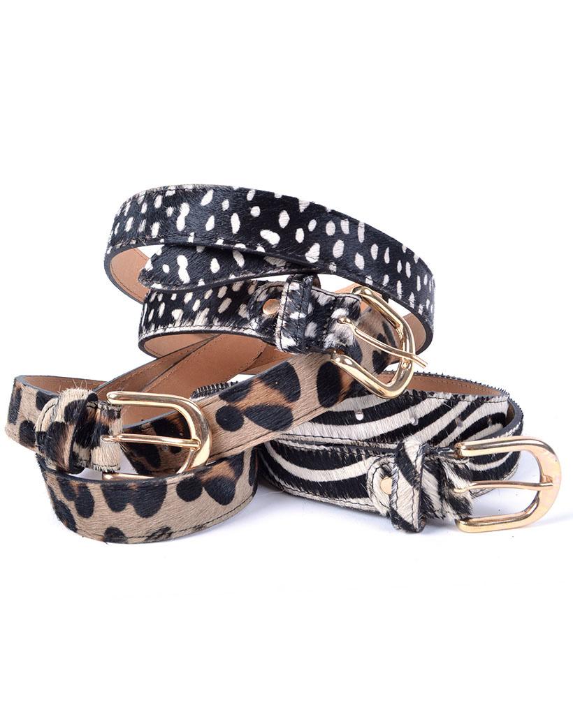 Leren Riem Animal print dierenvacht dames dunne riemen ceinturen trendy fashion riem kopen bestellen