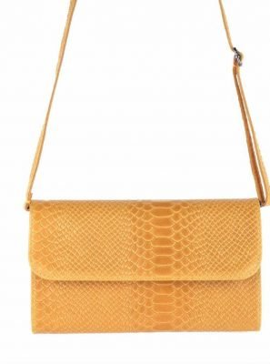 Leren-Snake-CLutch-Laila-Geel-Gele-leren-slangenprint-clutch-leren-hengsel-italian-leather-bags-leder-leer-tassen-online-clutches-kopen