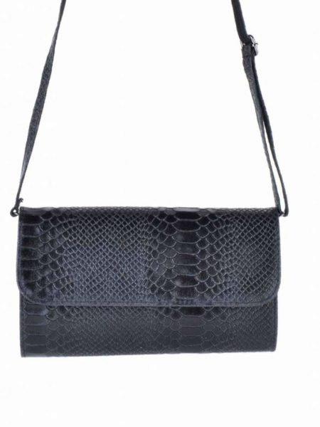 Leren-Snake-CLutch-Laila-zwart zwarte-leren-slangenprint-clutch-leren-hengsel-italian-leather-bags-leder-leer-tassen-online-clutches-kopen