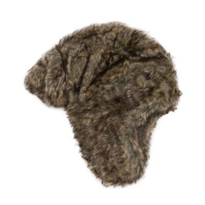 Muts Fake Fur bruin bruine dames wollen mutsen winter accessoires wollen hoed petten trooper trapper hat kopen bestellen