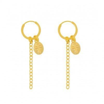 Oorbellen believe goud gouden lange oorbellen kruis bedel hippe fashion oorbellen online kopen bestellen