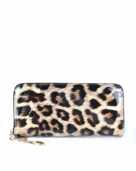 7e56dbd2403 Portemonnee Leopard Lak panter print Portemonnees met rits dames  accessoires dieren print musthaves kopen bestellen