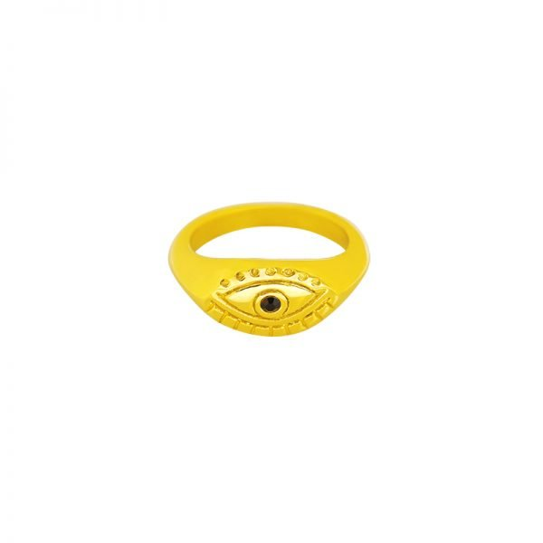 Ring Curious eye goud gouden dames ringen boze oog musthave sieraden online bestellen fashion