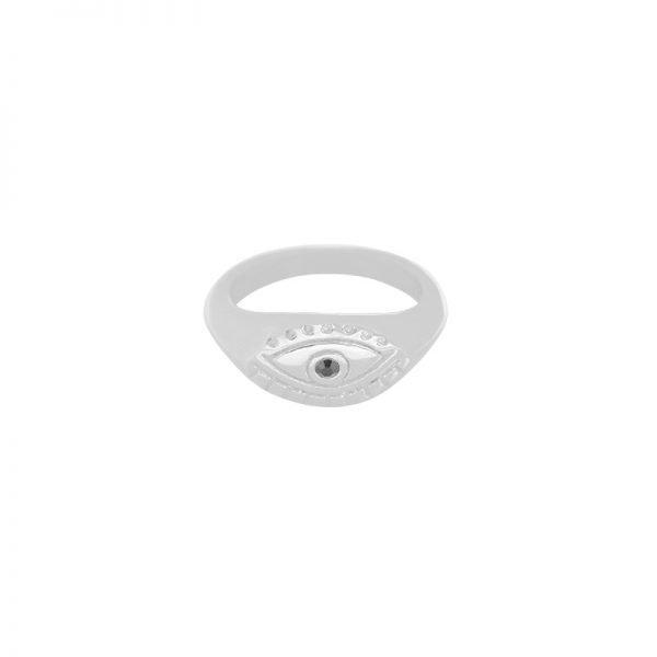 Ring Curious eye zilver zilveren dames ringen boze oog musthave sieraden online bestellen fashion