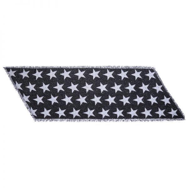 Sjaal Full Stardom lange zwart zwarte warme wollen sjaal sterren print winter accessoires dames kopen bestellen