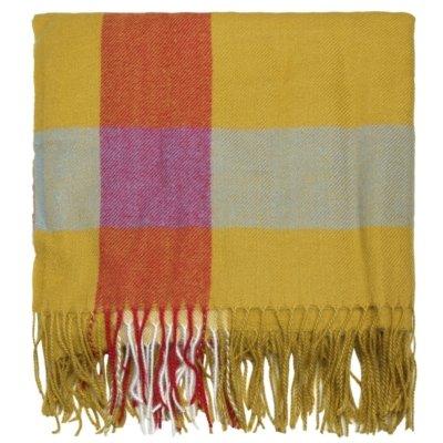 Sjaal Patterned licht geel gele rode geblokte warme winter sjaals omslagdoeken winteraccessoires goedkoop kopen yehwang trendy