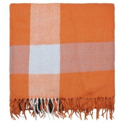 Sjaal Patterned oranje orange roze geblokte warme winter sjaals omslagdoeken winteraccessoires goedkoop kopen yehwang trendy