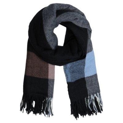 Sjaal Patterned zwart zwarte blauw geblokte warme winter sjaals omslagdoeken winteraccessoires goedkoop kopen yehwang