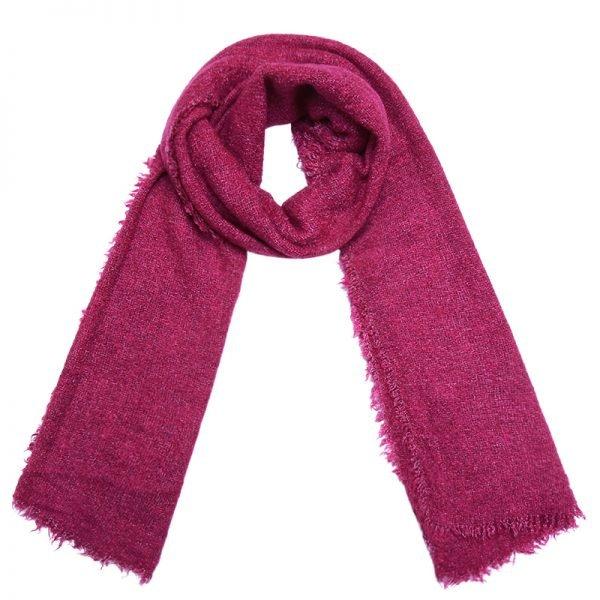 Sjaal Preppy fuschsia roze pink dames sjaals lange sjaal wollen winter accessoires online kopen bestellen omslagdoek