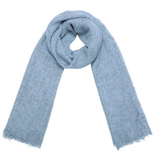 Sjaal Preppy licht blauw blauwe pastel kleuren dames sjaals lange sjaal wollen winter accessoires online kopen bestellen omslagdoek