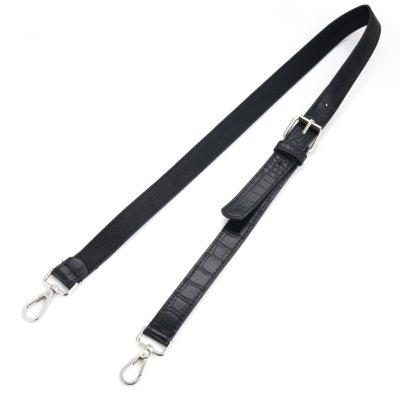 Tassen-Hengsel-Croco-zwart-zwarte crocoprint- lederen-schouderbanden-kroko-print-voor-tassen-musthave-accessoires