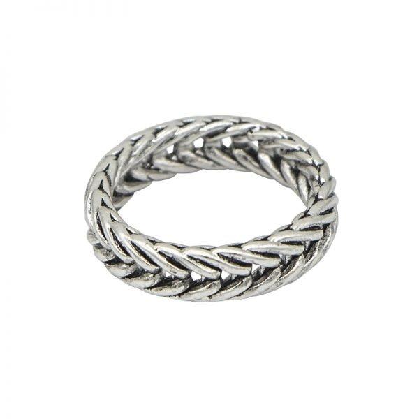 Zilveren Ring My Braid zilver dames gevlochten dames ringen online sieraden bestellen