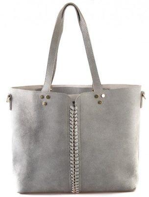 Bag in Bag Shopper Lin grijs grijze dames tassen shoppers extra binnen tas luxe goedkope dames lederen tassen kopen bestellen